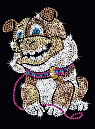 Sequin-Art Paillettenbild Bulldogge