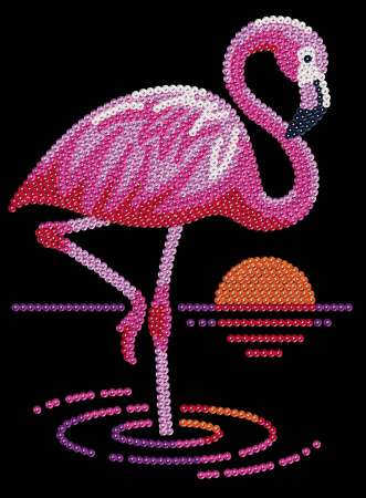 Sequin-Art Paillettenbild Flamingo