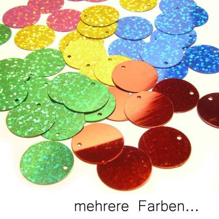 Pailletten flach 20mm (200g-Tüte)