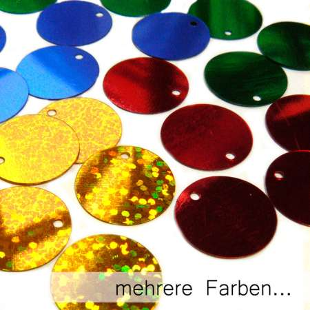 Pailletten flach 15mm (200g-Tüte)