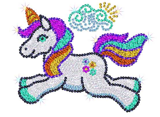 Sequin-Art Paillettenbild Einhorn