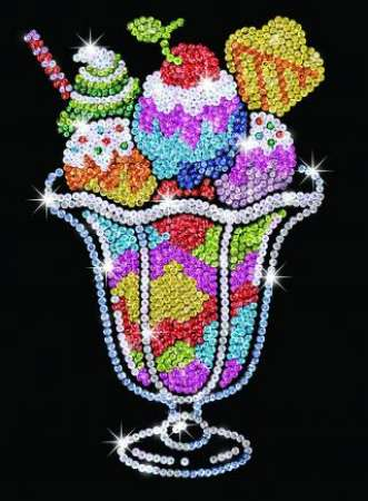 Sequin-Art Paillettenbild Eisbecher